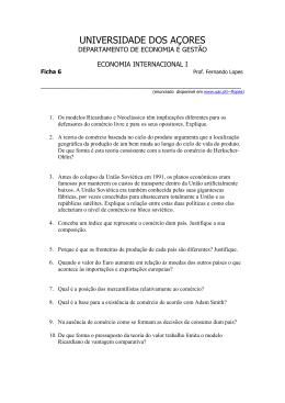 Ficha 6 - Universidade dos Açores