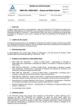 961-RC-002-00 Regra de Certificação ISO 14064