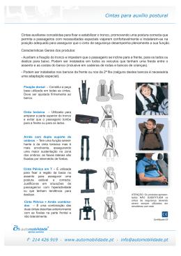 cinta auxílio postural