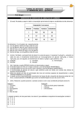 turma de revisão - emescam 1º semestre 2012 - química