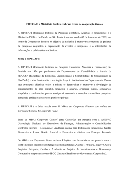 FIPECAFI e Ministério Público celebram termo de cooperação técnica