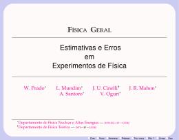 Estimativas e Erros em Experimentos de Física