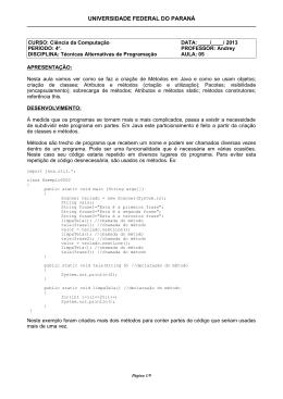 5a. Aula: Orientação a Objetos em Java