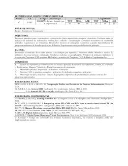 IDENTIFICAÇÃO COMPONENTE CURRICULAR Período UA