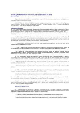 INSTRUÇÃO NORMATIVA SRF Nº 306, DE 12