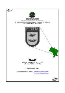 Julho - 1ª ICFEx - Exército Brasileiro