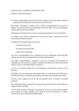 Lista de exercícios - Prof. Carlos Eduardo Batista