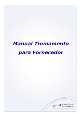 Manual de Treinamento para Fornecedores