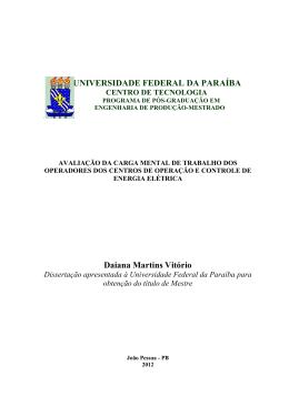UNIVERSIDADE FEDERAL DA PARAÍBA Daiana Martins