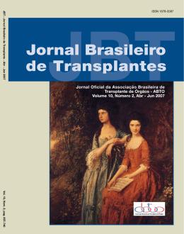 Jornal Brasileiro de Transplantes - ABTO | Associação Brasileira de