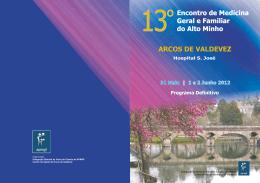 arcos de valdevez - Associação Portuguesa de Medicina Geral e