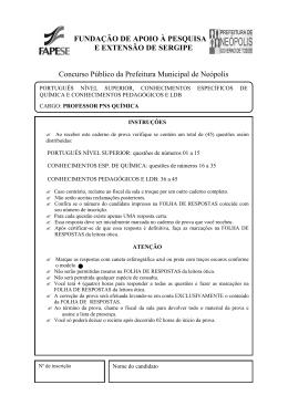 FUNDAÇÃO DE APOIO À PESQUISA E EXTENSÃO DE