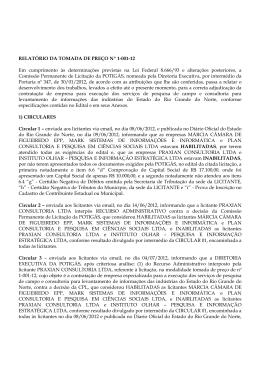 Relatório Final TOMADA PREÇO 1-001-12