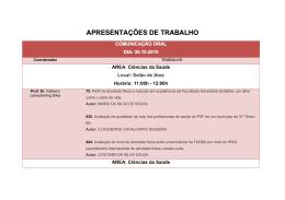 APRESENTAÇÕES DE TRABALHO - Faculdade Adventista da Bahia