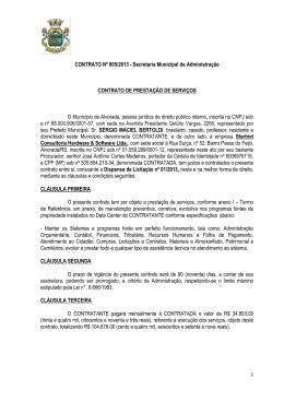 CONTRATO Nº 005/2013 - Secretaria Municipal de Administração