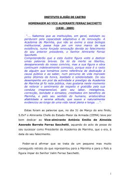 Artigo da homenagem  - Instituto D. João de Castro