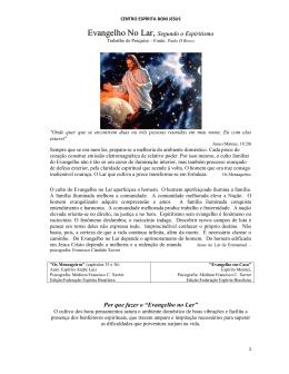Evangelho No Lar, - Centro Espirita Bom Jesus