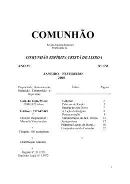 revista 158 - Comunhão Lisboa