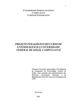 UNIVERSIDADE FEDERAL DE GOIÁS - Regional Jataí