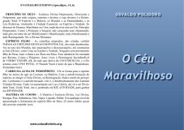 O CÉU MARAVILHOSO