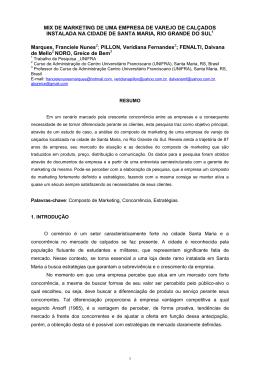 Modelo para a formatação dos artigos para publicação nos