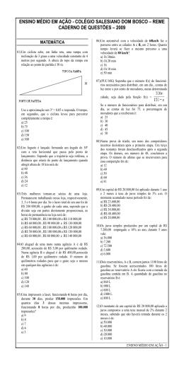 ENSINO MÉDIO EM AÇÃO - COLÉGIO SALESIANO DOM BOSCO