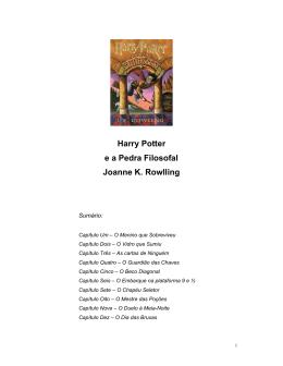 Harry Potter e a pedra filosofal PDF