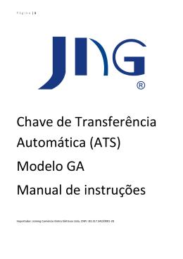 Chave de Transferência Automática (ATS) Modelo GA Manual