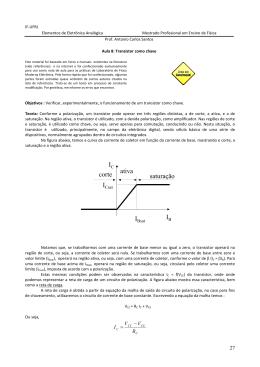 I IC saturação ativa corte - Instituto de Física / UFRJ