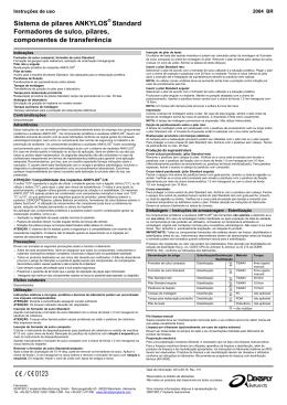 ANKYLOS® Standard Formadores de sulco, pilares