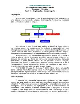 segurança de redes - criptografia