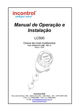 Manual da Chave de Nível LC500