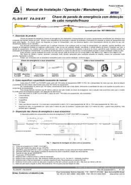 Manual de Instalação / Operação / Manutenção