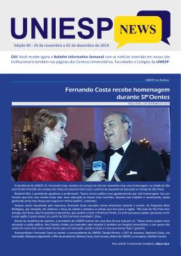 Fernando Costa recebe homenagem durante SP`Oentes