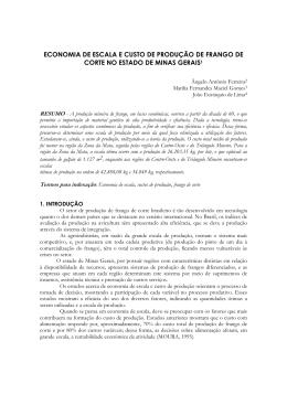 ECONOMIA DE ESCALA E CUSTO DE PRODUÇÃO DE