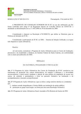 UNIDADE CONTINENTE - Conselho Superior