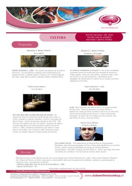 CULTURA Programa - Clube Millennium BCP