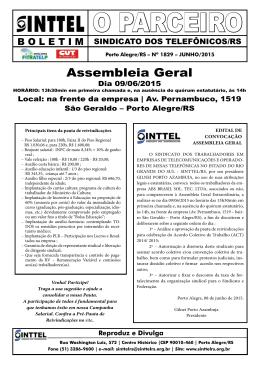 O PARCEIRO - SINTTEL/RS