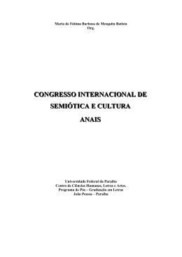 Anais Semicult - CCHLA - Universidade Federal da Paraíba