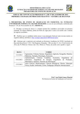1 EDITAL DE CONVOCAÇÃO PROGRAD Nº 3, DE 27 DE
