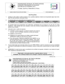 Prova Vocacionada - QUI MAT FIS - CPS