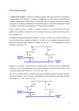 Ciclos de Born Haber - Prof. Cristina Azevedo