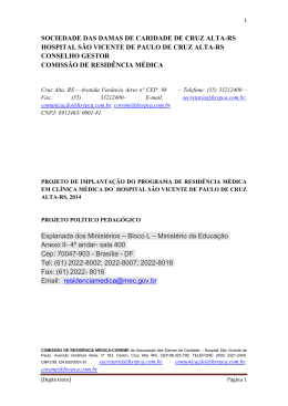 SOCIEDADE DAS DAMAS DE CARIDADE DE CRUZ ALTA