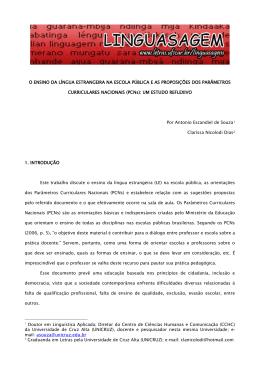 (PCNs): um estudo reflexivo, por Antonio Escandiel de Souza