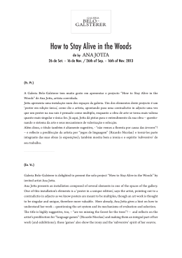 Text: How to Stay Alive in the Woods