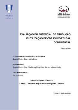 avaliação do potencial de produção e utilização de cdr em portugal