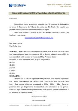 Resolução da prova - TJ-SP 2015