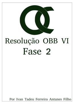 Resolução OBB VI fase 2