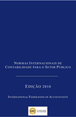 Normas Internacionais de Contabilidade para o Setor
