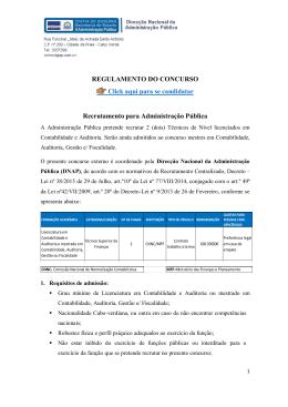 REGULAMENTO DO CONCURSO Click aqui para se candidatar